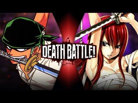 Zoro VS Erza | DEATH BATTLE! (One Piece VS Fairy Tail) (видео)
