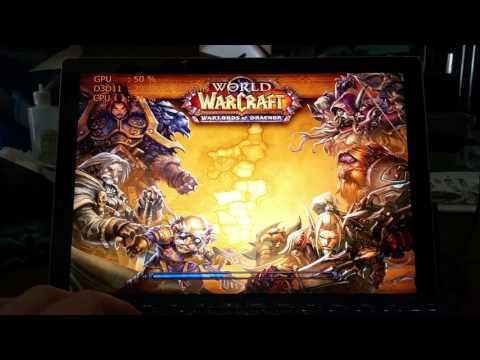 World of Warcraft on Surface Pro 4 i5 8gb