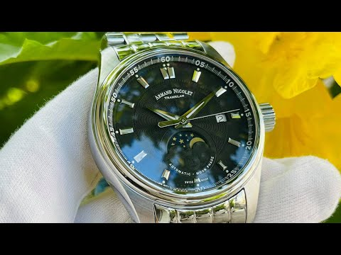 Xship.vn: Armand Nicolet MH2 Automatic Black Dial Men Watch A640L-NR-MA2640A видео
