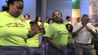 Coro Antorcha de Zaragoza 1ª parte(Dia de Guinea Ecuatorial) Coordinacion del pdge Zaragoza