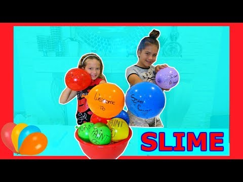 "MAKING SLIME WITH BALLOONS ""SLIME BALLON TUTORIAL "" SISTER FOREVER"
