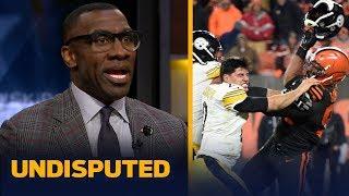 Shannon Sharpe reacts to Myles Garrett hitting Mason Rudolph with his own helmet | NFL | UNDISPUTED