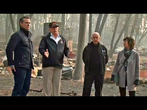 Raw Video: Pres. Trump, Gov. Brown Comment on Wildfire Devastation
