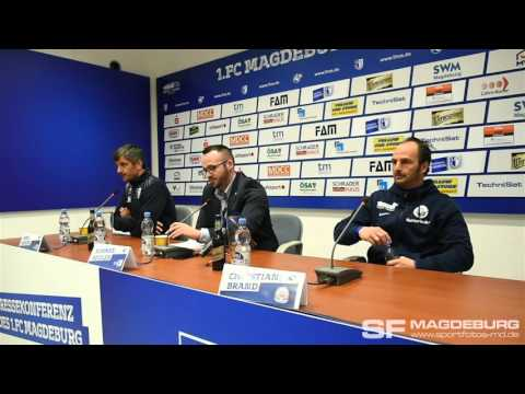 Video: Pressekonferenz - 1. FC Magdeburg gegen F.C. Hansa Rostock 4:1 (2:1)