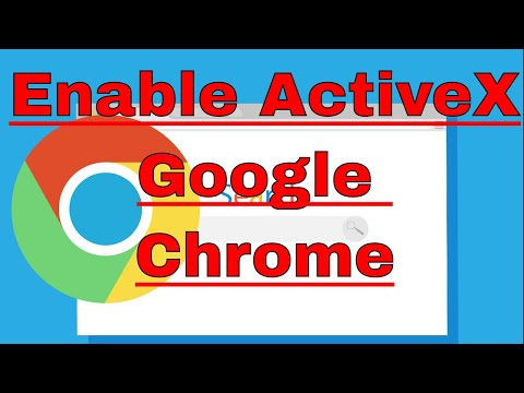 how to enable activex control in google chrome