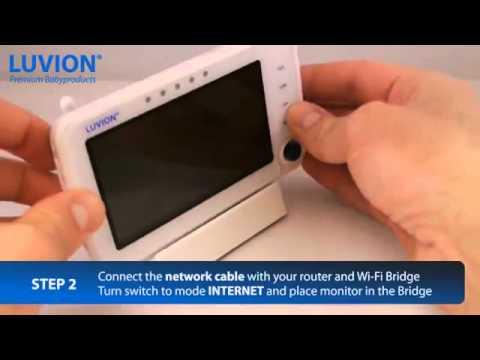 Видео Видеоняня с температурным датчиком Luvion Supreme - CONNECT