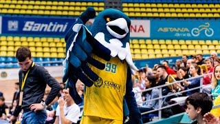 Конкурсы с болельщиками от талисмана Баскетбольного клуба «Астана»— Сэмми