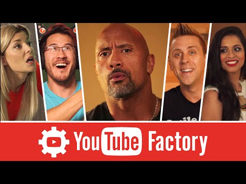 The Rock Goes To The YouTube Factory