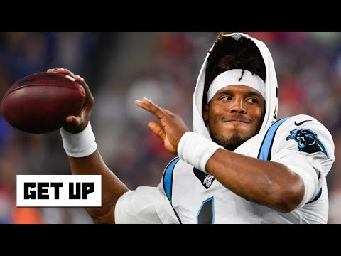 Video: Cam Newton suffers a sprained ankle in the Panthers' preseason game vs. the Patriots   Get Up