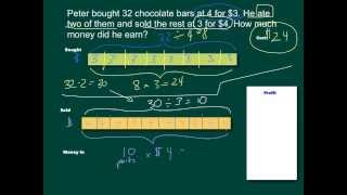 Bar Models 04: Solving Word Problems (Singapore Math 5A)