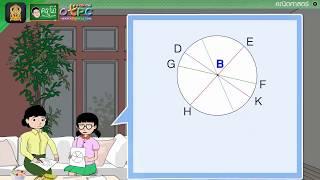 สื่อการเรียนการสอน รูปวงกลม ตอนที่ 2 ป.4 คณิตศาสตร์