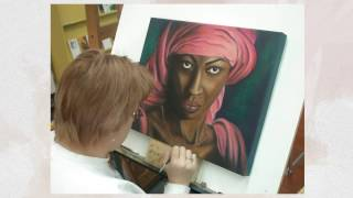 Hidden Talent Art School: Student Portrait Paintings