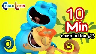 Video Funny Children Cartoon | 10 Minutes Compilation #2 | Cam & Leon | Cartoon for Kids MP3, 3GP, MP4, WEBM, AVI, FLV Juli 2019