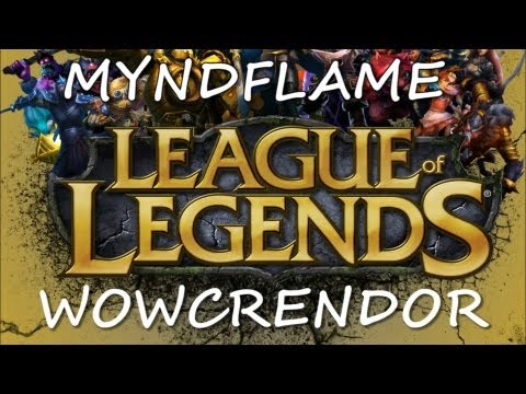 Myndflame - Play League! http://tinyurl.com/playleague Myndflame and wowcrendor team up to play a casual match of LoL. Subscribe to wowcrendor's channel: http://www.yout...