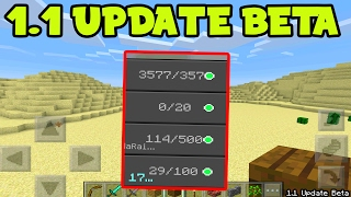 Minecraft Pocket Edition 1.1 FIRST BETA Gameplay Changes EXPLAINED! (MCPE 1.1 BETA)
