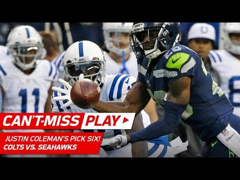 Video: Justin Coleman Jumps the Route & Snags Pick Six! | Can't-Miss Play | NFL Wk 4 Highlights