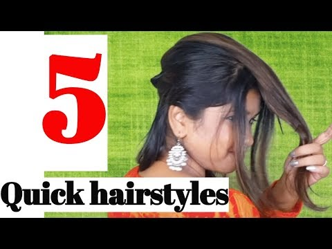 Easy hairstyles - 5 EASY & Quick Hairstyles for Festival 2018 Namrata Singh