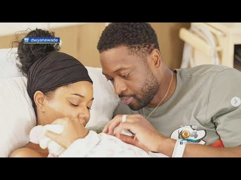 Heat Superstar Dwyane Wade, Gabrielle Union Announce Birth Of Baby Girl