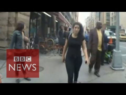 Video! - Subscribe to BBC News HERE http://bit.ly/1rbfUog A video director has filmed an actress as she walked the streets of New York City to highlight the harassment women face in the city. In 10...