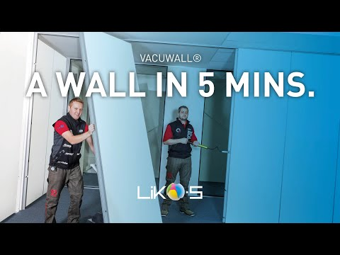 VacuWall - the first really movable wall