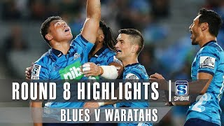 Blues v Waratahs Rd.8 2019 Super rugby video highlights | Super Rugby Video Highlights