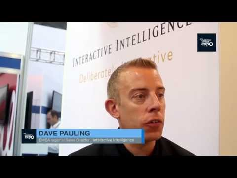 Dave Paulding, EMEA Regional Sales Director, Interactive Intelligence at Customer Contact Expo