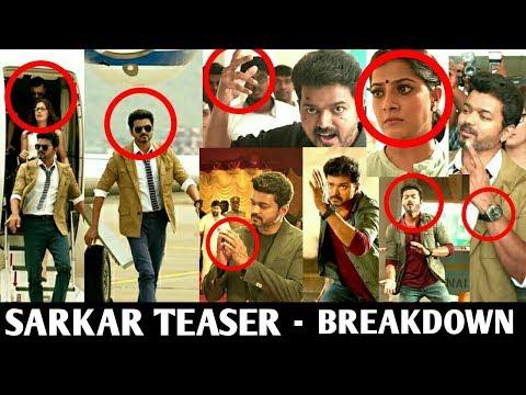 Video songs - Sarkar Teaser  Breakdown  Thalapathy Vijay  AR Murugadoss  Sarkar Official Teaser  Sarkar