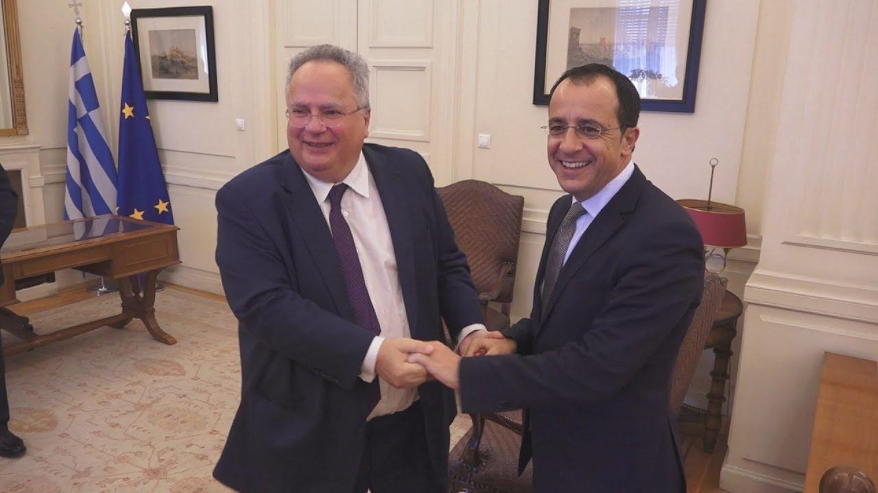 Συνάντηση Ν. Κοτζιά, με τον Υπουργό Εξωτερικών της Κυπριακής Δημοκρατίας, Ν. Χριστοδουλίδη