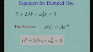 Lecture - 2 Damped Oscillator - I