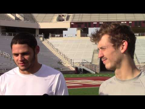 TXST QB Tyler Jones and WR Brice Gunter Interview with Keff Ciardello