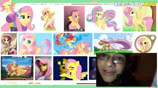 Reaction to fluttershy googles herself