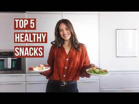 Top 5 Easy + Healthy Snacks | My Go-To Snacks | Model Diet | Emily DiDonato