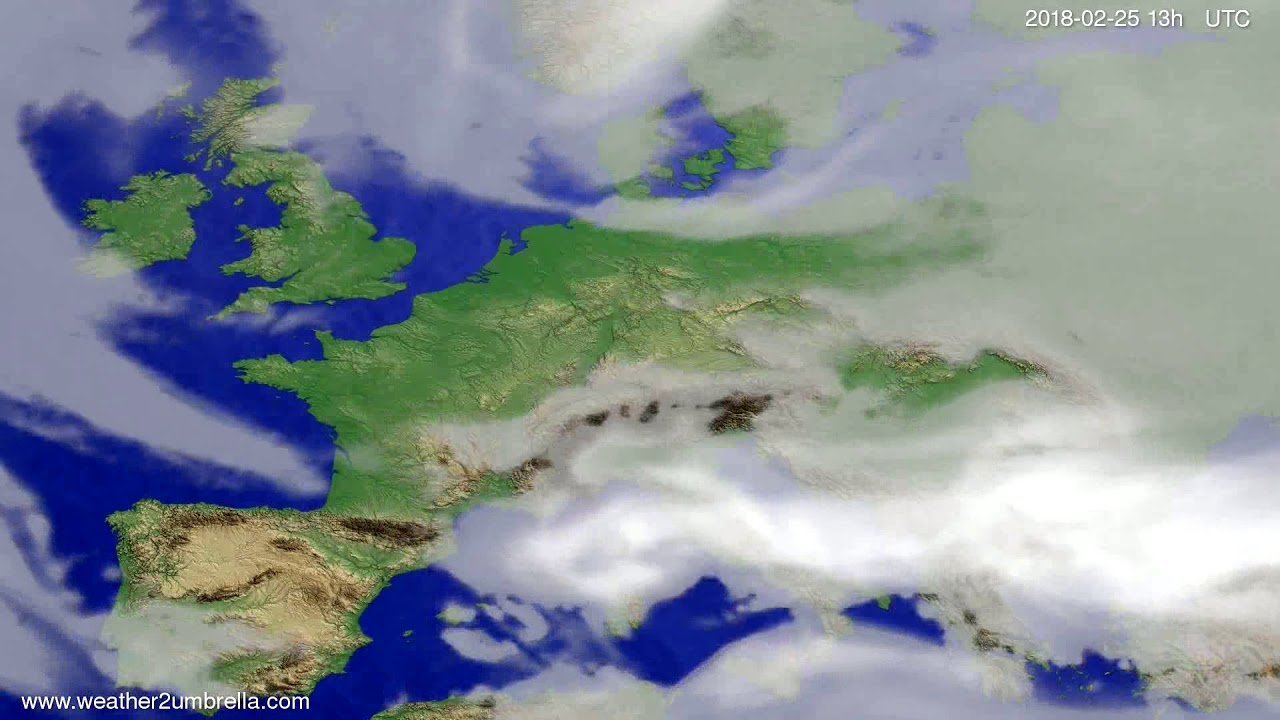 Cloud forecast Europe 2018-02-22