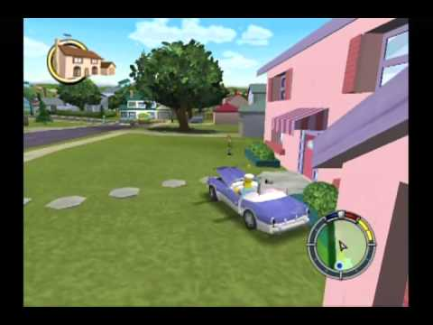 10-Minute Gameplay - The Simpsons: Hit and Run (GameCube)