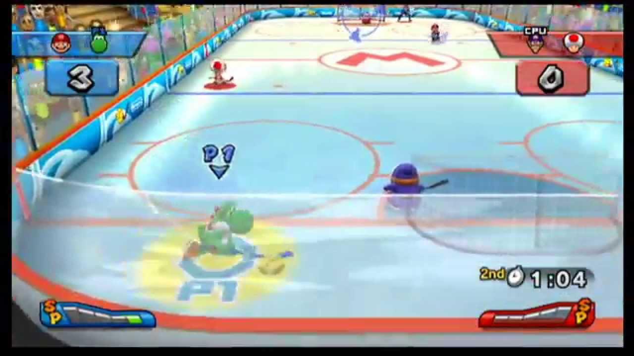 Mario Sports Mix – Hockey – Mushroom Cup Normal Mode