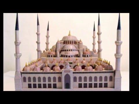 Как сделать из картона мечеть
