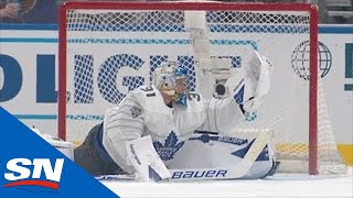 Frederik Andersen Robs Connor McDavid, Then Assists David Pastrnak's Goal by Sportsnet Canada