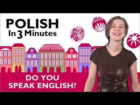 Sprechen Sie Englisch - Polnische Vokabeln