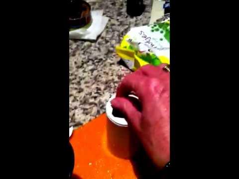 Test met de knoflooksnijder