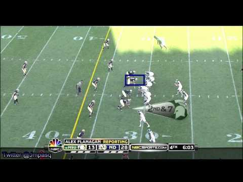 Aaron Lynch vs Michigan State 2011 video.