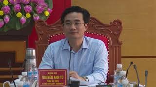 Hội nghị BTV Huyện uỷ: Cho ý kiến về Kế hoạch tổ chức Hội nghị công bố Quy hoạch chung và xúc tiến đầu tư vào huyện Hoành Bồ