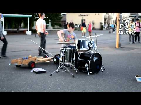 Drum - Best Drummer in World. Epic Street Drumming. Now this is a drummer who has a bright future ahead of him. Check out the awesome skills he shows off! Incredibl...