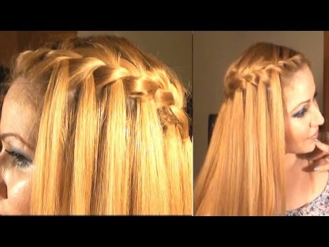 Como Hacer una Trenza Cascada- Waterfall Braid (Self)