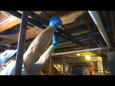 water pipe in basement leaking water