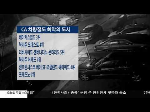 CA 차량절도 최악의 도시 6.08.17 KBS America News