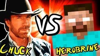 CHUCK NORRIS vs HEROBRINE