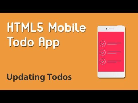 HTML5 Programming Tutorial | Learn HTML5 Mobile Todo App - Updating Todos
