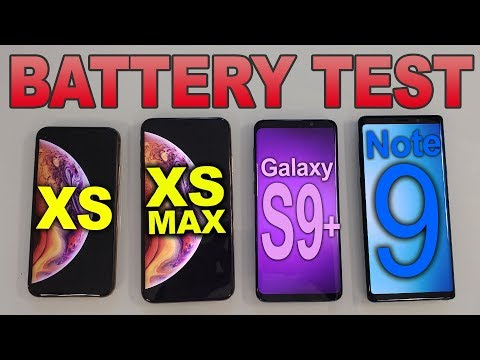 Video Battery Test: iPhone Xs Max vs Note 9 vs S9+ vs iPhone Xs download in MP3, 3GP, MP4, WEBM, AVI, FLV January 2017