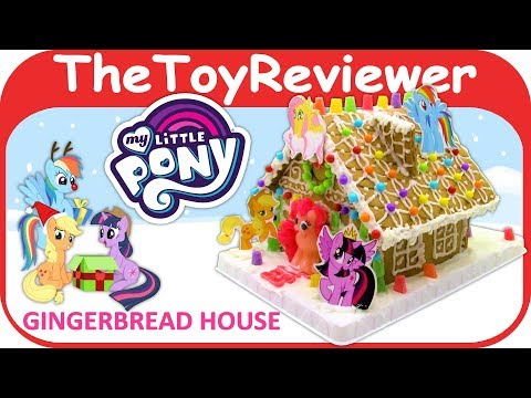 My Little Pony Gingerbread House Kit Christmas Holiday Candy Unboxing Toy Review by TheToyReviewer