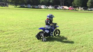 4. Dylan's first ride of a motorbike 2017 Yamaha pw50